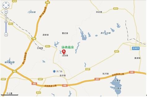 湖北应城温泉地理区域