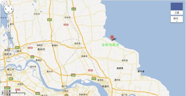 江苏省如东县金蛤岛温泉