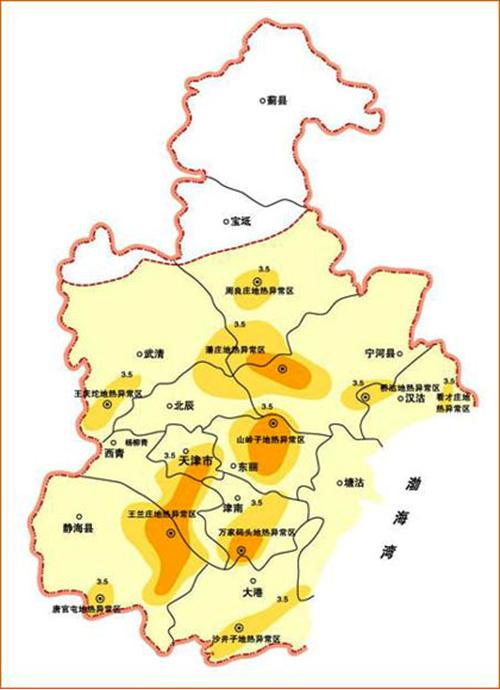天津市地热 温泉 分布规律